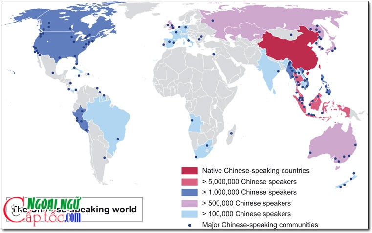 chinese language map